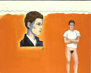 """Romaine Brooks and Me"" (1994, oil on canvas)"